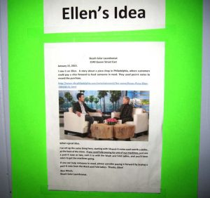 poster about Pay It Forward, inspired by The Ellen DeGeneres Show