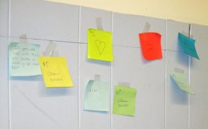 Pay It Forward post-it notes