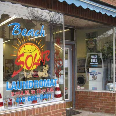 Beach Solar Laundromat Queen St Toronto