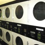 Dryers in laundromat